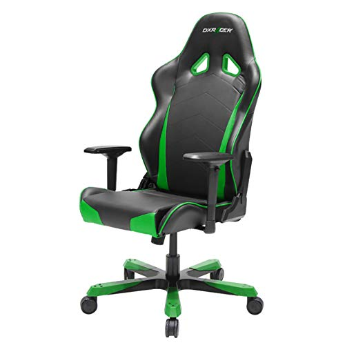 DXRacer Tank Series DOH/TS29/NE Big and Tall Chair Racing Bucket Seat Office Chair Gaming Chair Ergonomic Computer Chair Esports Desk Chair Executive Chair Furniture with Pillows (Black/Green)