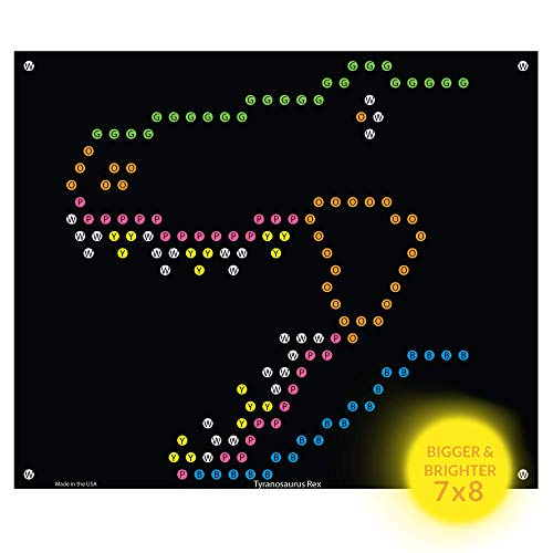 IllumiPeg Lite-Brite Refill Sheets for Basic Fun Ultimate Classic Toy - Dinosaur T-Rex Light Bright Refill Templates (10 Pack)