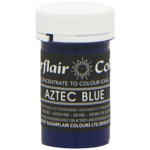 30 x Sugarflair AZTEC BLUE Pastel Edible Food Colouring Paste for Cake Icing 25g