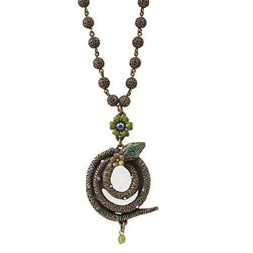 La Contessa Jewelry Snake Coiled Pendant Necklace ()