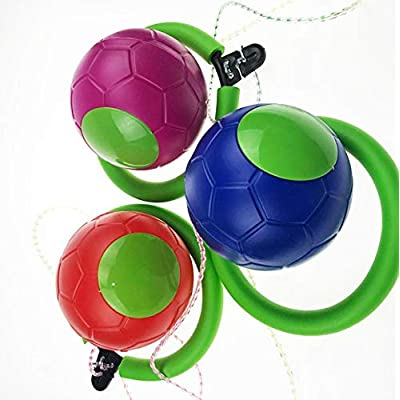 ZJJ 1 Pcs Town Skip Ball Children Exercise Coordination & Balance Hop Jump Playground May Toy Great Fitness Game for Men and Women, Old and Young (Random Color): Sports & Outdoors