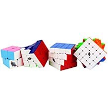 Magic Cube Puzzle, Cyclone Boys Twist Puzzle 6-color Speed cube Set: 2x2,3x3,4x4,5x5 Education Toys By Ting-w