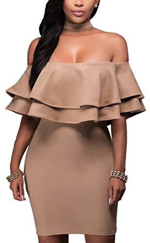 Brown Halter Dress - 8