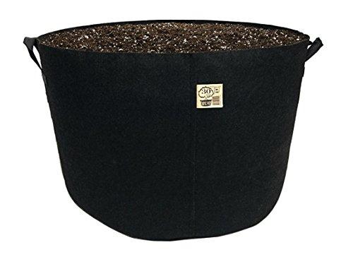 Cheap TH Choice 10-Pack Premium Black Fabric Pots Aeration Grow Bags Heavy Duty Planter (30 Gallon w/Handles, Black)
