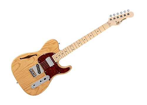 G&L Tribute Series Asat Classic Bluesboy Semi-Hollow Electric Guitar - Natural Gloss/Maple - TI-ACB-122R40M40 ()