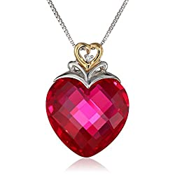 Ruby Heart Pendant