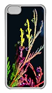 iPhone 5C Case, Personalized Custom Colorful Drops 3 for iPhone 5C PC Clear Case