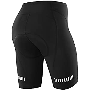 NOOYME (New Gear for Spring) Women Bike Shorts for Cycling with 3D Padded Classic Black Women Cycling Shorts (Black, Medium)