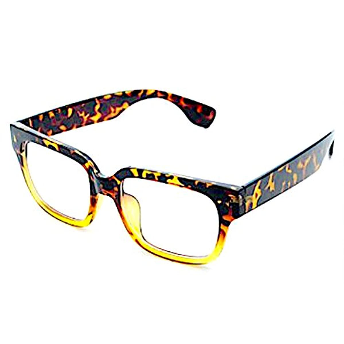 [해외] FREESE 다테 안경 맨즈 디자이너스 패션 멋으로 쓰는도수 없는 안경 웰링톤 블랙인연 빅 프레임 캐주얼 【후쿠온카발의 안경 브랜드 FREESE】
