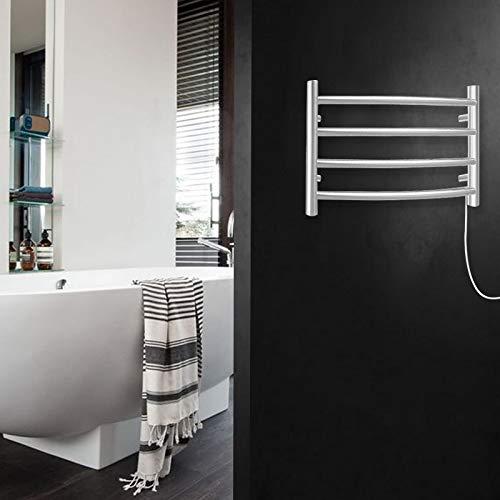 SHARNDY Electric Towel Warmer Curve Towel Bars ETW29 Brushed Nickel