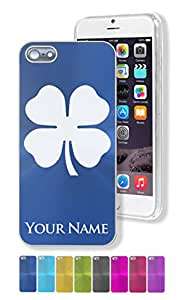 Personalized Case/Cover for iPhone 5/5S - FOUR LEAF CLOVER - Engraved for FREE