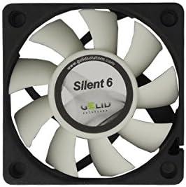GELID Solutions Silent 6 de 4 pines de 60mm para la carcasa estándar | Operación silenciosa | Aspas del ventilador optimizadas.
