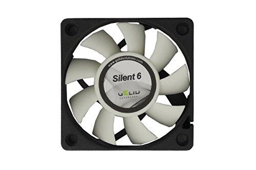 GELID Solutions Silent 7 de 4 pines de 70mm para la carcasa est/ándar Operaci/ón silenciosa Aspas del ventilador optimizadas.