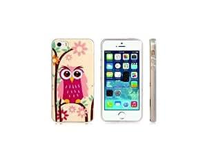 Búho rosado caja de plástico de impresión de la piel para el iPhone 5S / 5