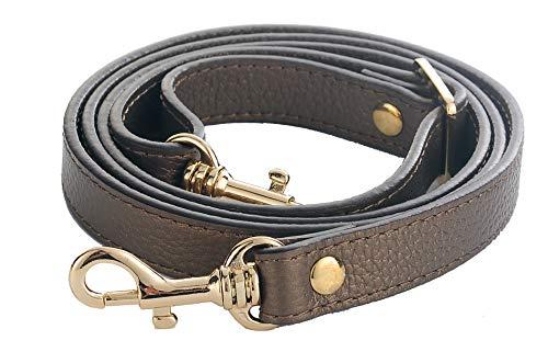 (SeptCity Top Quality Grain Leather Adjustable Shoulder Straps -1.8 CM Width(20 Color)(Bronze))