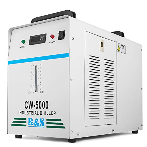 Mophorn Water Chiller 6L Capacity Industrial Water Chiller CW-5000DG Thermolysis Type Industrial Water Cooling Chiller for 80W /100W Laser Engraving Machine (CW-5000DG)
