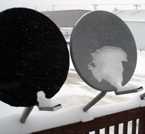 Satellite dish cover - universal black for round or elliptical dish - the DISH hoodie SCNOP / DISH HOODIE HOOD DISH 1
