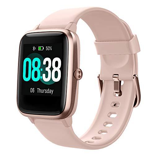 YONMIG Reloj Inteligente Mujer y Hombre, Smartwatch Impermeable IP68 Pulsera Actividad Deportivo con Monitor de Sueño…