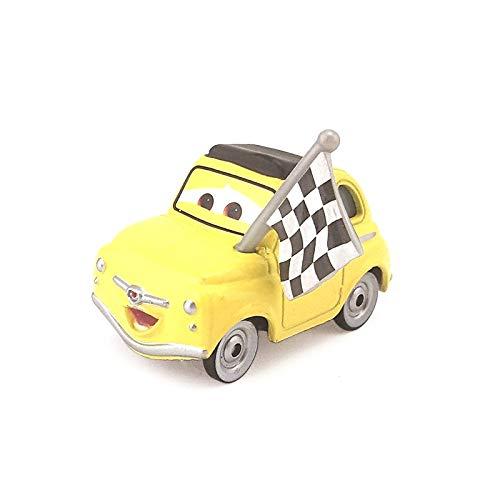 Disney Disney Pixar Cars 3 Fireball Beach Luigi with Checkered Flag Metal Diecast Toy Car 1:55 Loose in Stock &