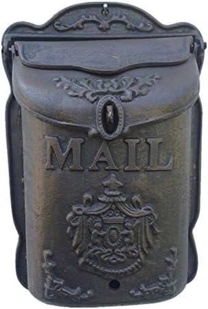 メールボックス 文字スタンプ新聞レトロリトルエンジェルメールボックスのための大規模な鋳鉄レターボックスウォールマウント 住宅に適しています (Color : As Shown, Size : 25x10.2x39cm)