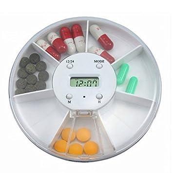 PIXNOR Pastilla distribuidor píldora caja medicamentos electrónicos recordatorio