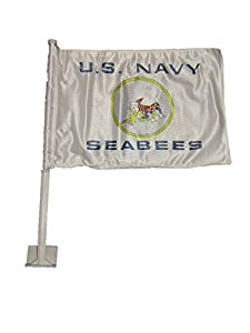 "AES 12x18 U.S. Navy Seabees Double Sided Car Vehicle 12""x18"" Flag by AES"