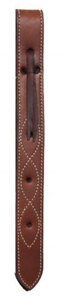 PONY Size Leather Off Billet Strap Saddle 14 1/2'' x 1 1/2'' (Burgundy)