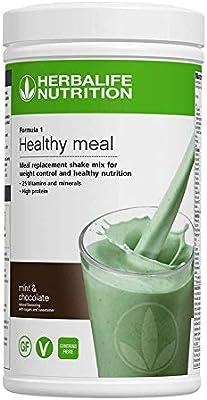 Herbalife Formula 1 Nutritional Shake Mix, Mint Chocolate, 550 g: Amazon.es: Salud y cuidado personal