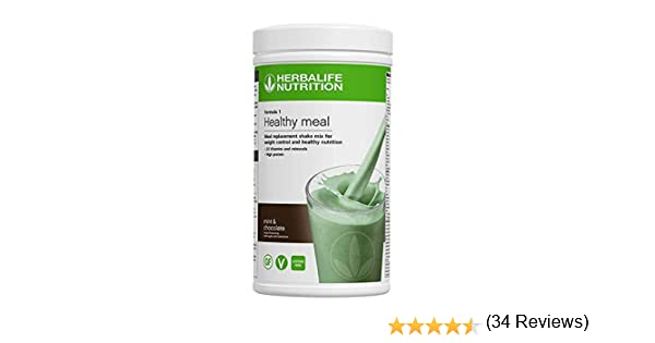 Herbalife Formula 1 Nutritional Shake Mix, Mint Chocolate, 550 g: Amazon.es: Salud y cuidado personal
