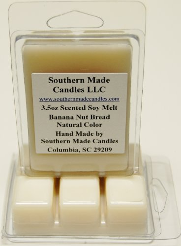 3.5 oz Scented Soy Wax Candle Melts Tarts - Banana Nut -