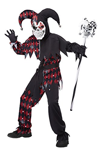 California Costumes Sinister Jester Costume, One Color, 10-12
