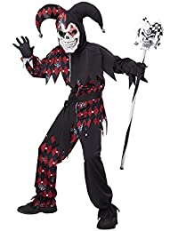 Sinister Jester Costume, One Color, 12-14