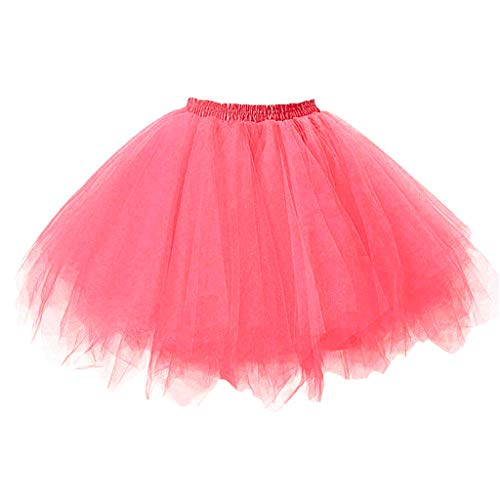Ballet Tutu Skirt for Girls Kids Baby Dance Fancy Costume Tulle Bubble Dress 1950s Vintage Tutu Petticoat (2-8 Years, Pink) -