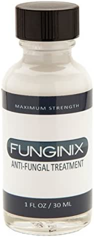 Funginix Nail Fungus Treatment, Maximum Strength Anti-Fungal Toenail Solution, Fungi Foot and Toe Medication, FDA-Approved Undecylenic Acid, Safe and Effective, 1 Fl. Oz. (1 Bottle)