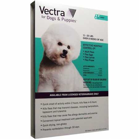 Vectra for Dogs 11 to 20 lbs 6 Doses