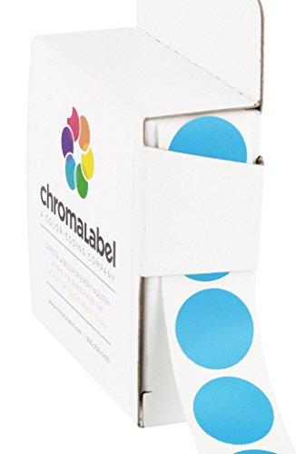 ChromaLabel 3/4 inch Color-Code Dot Labels   1,000/Dispenser Box (Light Blue)