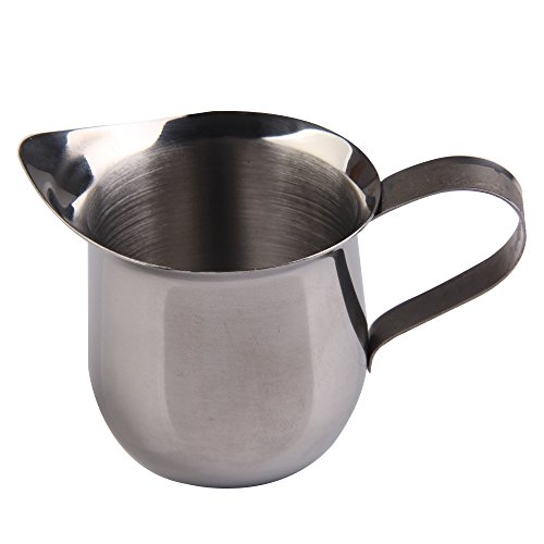 Awakingdemi Stainless Steel Milk Cream Waist Shape Cup Jug Coffee Small 8OZ(240ml) (Jug Small Cream)