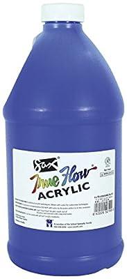 Sax True Flow Medium-Bodied Acrylic Paint - 1/2 Gallon - Ultramarine Blue