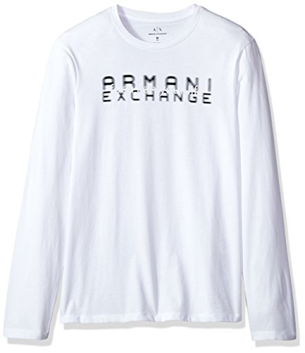 - A|X Armani Exchange Men's Focus on Your Life Long Sleeve Tee, White, Large