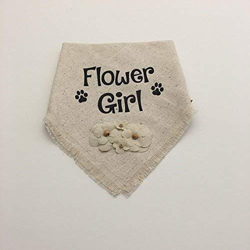 Wedding | Flower Girl | Dog Bandana | Costume