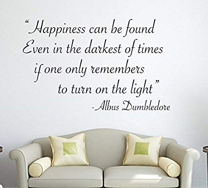 Lovely Decals World Harry Potter Happiness Can Be Found. Albus Dumbledore Wall Decal Quote Sticker Art Decor Vinyl (Lovely Word Print)