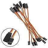 ShareGoo 10PCS 150mm Male to Female JR Plug RC Remote Control Servo Extension Lead Wire Cable