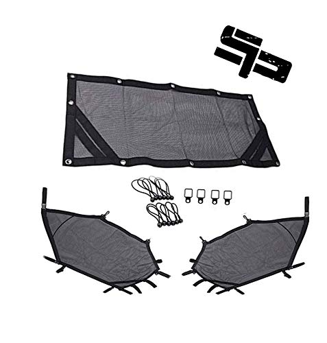 (UTV Window Net Roll Cage Mesh Guard Front and Rear Window Shield Net for a RZR 1000 XP 900 S 1000 S Turbo with Stock Cage and Factory Doors)