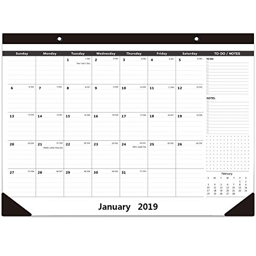 2019 Monthly Desk Calendar Wall Calendar 16.5 X 11.5