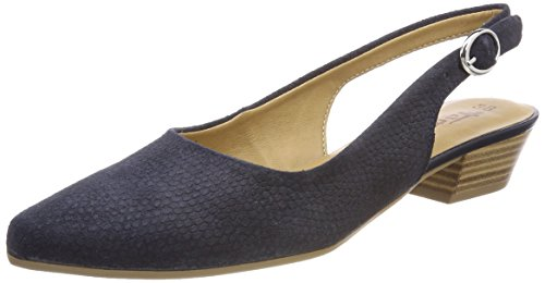 Sling 29400 Sandals str navy Women''s Tamaris Blue Back Sued 1qBEZ5xw