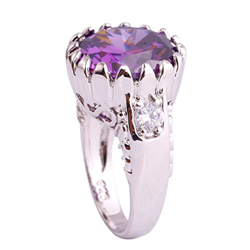 Narica Sterling Silver Women's Round Cut Pink Topaz Engagement Ring (Ring Engagement Topaz Genuine)