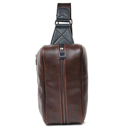 NUBEN 55490 - Bolso al hombro para hombre Marrón marrón