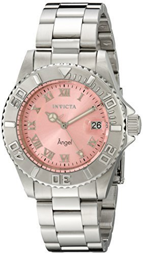 Invicta Women's 14360 Angel Analog Display Swiss Quartz Silver Watch