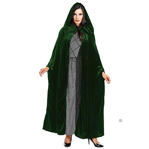 Cloak Adult Hooded Cape Mens/Womens Velvet Costume Halloween Fancy Dress