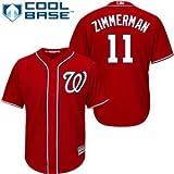 Ryan Zimmerman Washington Nationals #11 MLB Youth Cool Base Alternate Jersey Red (Youth medium 10/12)